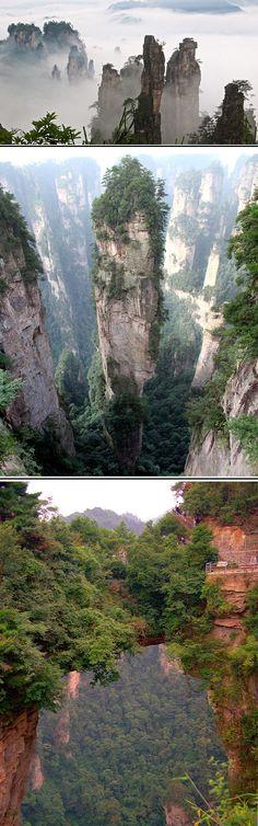 Reminds me of Pandora from Avatar---Tianzi-Mountains