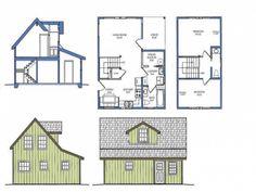 Alaska Cabin Plans, Alaska House, Small House Plans micro-homes-and-what-s-inside Small House Plans Free, House Plan With Loft, Small House Floor Plans, Tiny House Plans, House Design Photos, Tiny House Design, Purple Martin House Plans, Alaska House, Alaska Cabin