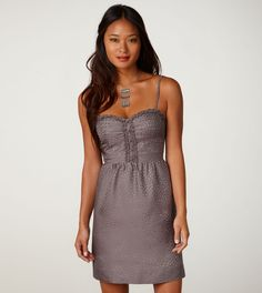 dotty corset dress