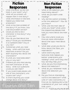 Reading Response Questions for Any Book! Freebie!