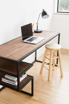Get the home office design you've ever wanted with these home office design ideas! Feel inspired by the unique ways you can transform your home office! Home Office Desks, Home Office Furniture, Office Decor, Office Themes, Table Desk Office, Steel Office Table, Office Ideas, Bedroom Furniture, Desk Setup