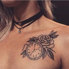 43 tattoos with detachable collar for women StayGlam - Cute Collar Knot . - 43 tattoos with detachable collar for women StayGlam – Cute Collar Bone Tattoo Idea - ideas collar bone Cute Tattoos For Women, Cute Tiny Tattoos, Pretty Tattoos, Unique Tattoos, Small Tattoos, Tattoos For Guys, Baby Tattoos For Mom, Awesome Tattoos, Stop Watch Tattoo