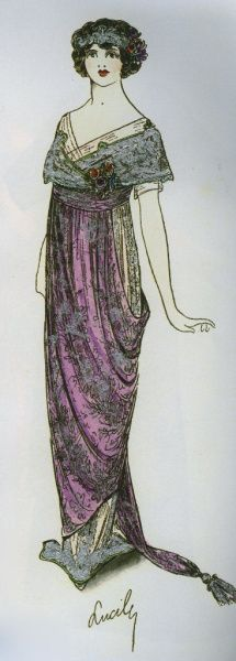 A sketch circa 1912 by Lucile, aka Lady Duff-Gordon, a survivor of the Titanic.