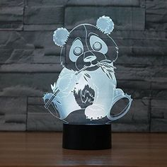 Kids Lamp Night Light Panda Room Bedroom Home Bamboo Leaf Touch LED Gift for sale online Kids Lamps, 3d Light, Bamboo Leaves, Night Light, Panda, Home Improvement, Touch, Led, Bedroom