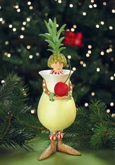 Patience Brewster Peter Colada Ornament - Krinkles Christmas Décor