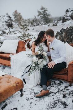 Couch cozy moments from this elegant winter wedding inspo | Image by Maggie Grace Photography  #celestialwedding #winterwedding #wedding #weddinginspiration #weddingphotography #bride #bridalinspiration #bridalstyle #groom #groomstyle #groominspiration #weddingdress #weddinggown #bridalgown #bouquet #weddingbouquet #bridalbouquet  #weddingdecor #weddingreception