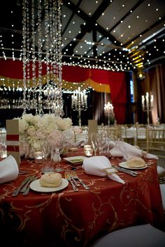 Red and gold always makes for a grand and royal wedding... stunning work by Decorative Events and Exhibitions. #wedding #drappery #red #gold