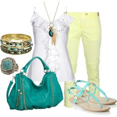 """turquoise"" by sandreamarie on Polyvore"