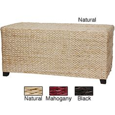 @Overstock.com - oriental Homes' rush grass coffee table is the perfect item for adding an antique feel to your home. Handmade with woven rush grass, this beautifully crafted coffee table is available in a mahogany, black, or natural finish to complement any decor. http://www.overstock.com/Worldstock-Fair-Trade/Rush-Grass-Rectangular-Coffee-Table-China/6483826/product.html?CID=214117 $174.00