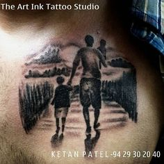 #father #son #daughter #tattoo #tattoos #art #ketanpatel #love #awesome #filing......