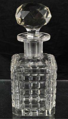 Square Cut Geometric Cut Glass Crystal Perfume Bottle