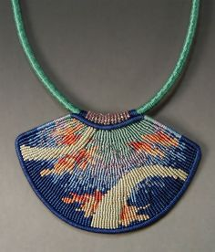 Contemporary macrame jewelry by Joan Babcock