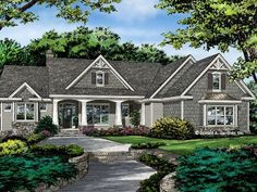 HOME PLAN 1415 – NOW AVAILABLE! - HousePlansBlog.DonGardner.com – The Lucy home plan 1415 is now available! A simplified roof-line creates interest with thoughtful gables and columns framing the porch. #dreamhomeplan #dreamhouseplan #homeplan
