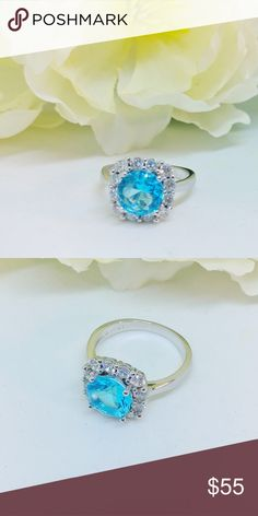 Brand new! 925 Aquamarine Ring Brand new  Size 6 925 Silver  Just amazing!!!!  Buy with confidence: 📈Top Rated Seller  📈Top Seller--1,600+ orders!!!  👏Poshmark Ambassador 👸Posh Mentor 📬Fast Shipping 🚭Smoke and pet free Jewelry Rings