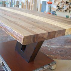 Holz Mbel Tisch Massiv Unikat Messmer Monheim Fossilien Stahl Design Modern Einzigartig Einrichtung Wohnzimmer Esszimmer