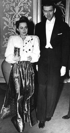 Jimmy Stewart and Olivia de Havilland, February 1940