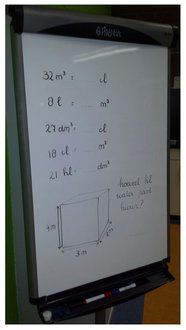 Iedere dag op het white-board een opdracht die de kinderen als ze 's morgens (al voor de bel) binnenkomen mogen maken. De ene keer sommen, de andere keer een tekening, de andere keer een raadsel of iets met taal.