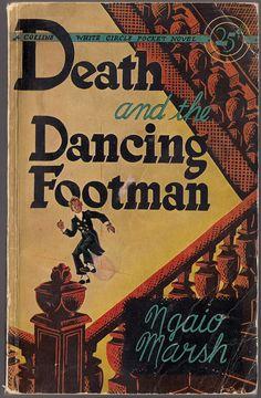 DEATH AND THE DANCING FOOTMEN by Ngaio Marsh 1943 - Cover art: Margaret Paull http://www.wollamshram.ca/White_Circle/MarshN.htm