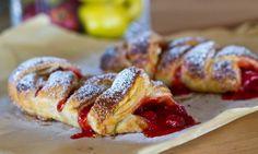 Puff pastry cherry bake @getoffyourbuttandbake