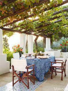 Un comedor de estilo mediterráneo