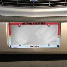 Ottawa Senators Plastic License Plate Frame