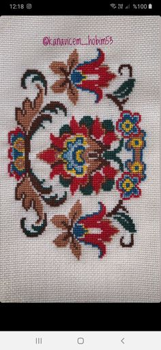 Cross Stitch Art, Cross Stitch Designs, Diy Crafts Hacks, Diy And Crafts, Sewing Collars, Ribbon Embroidery, Needlework, Kids Rugs, Cross Stitch Embroidery