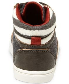 Carter's Terry High-Top Casual Sneakers, Toddler & Little Boys (4.5-3) - Gray 10 Toddler