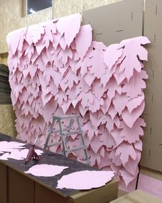 Paper backdrop or mural for photos party wedding DIY