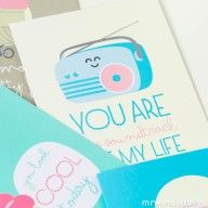 """""""You are the soundtrack of my life"""" greeting card. #summer #greetingcard #postcard"""