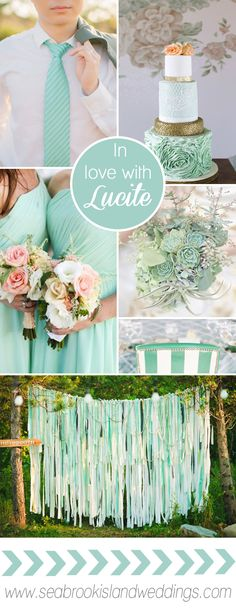 In Love with Lucite: Pantone 2015 Spring Wedding Color Inspiration from Seabrook Island Weddings