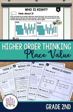Are your students ready to be challenged with higher order place value problems? There are two versions that you can use! ✱Paperless:Use the slides to project for your class. Use this digital version to engage the whole class. ✱Printables: Use the printables to engage students in partnered discussions. You can also use them during a small group or at a math center.|Place Value|Math|Word Problems|