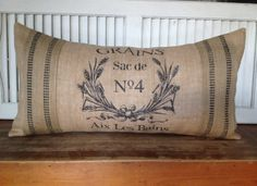 FRENCH COUNTRY PILLOWInsert Included by UrbanPebbleTrailZ on Etsy