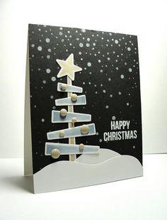 Layered Tree die (Simon Says Stamps) - Christmas