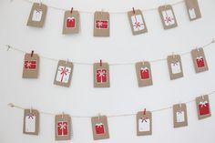gift tags diy christmas advent calendar