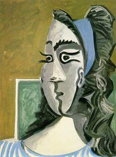 Pablo Picasso. Tête de femme (Jacqueline) I. 1962 year