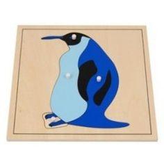 Montessori puzzle bois pingouin