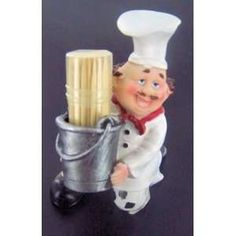 com Fat Italian chef Toothpick holder Bistro cooking. Home & Kitchen