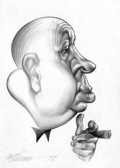 Alfred Hitchcok (by Vizcarra)