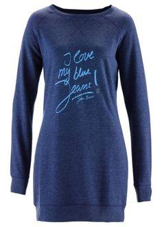 Sweatshirt, John Baner JEANSWEAR, donkerblauw gemêleerd