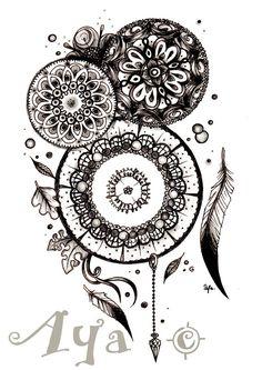 Znalezione obrazy dla zapytania mandala dreamcatcher tattoo