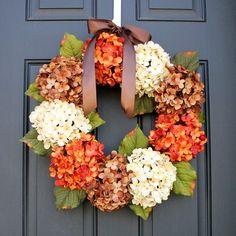 Fall Hydrangea Wreath tutorial