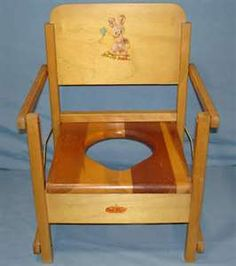 Wooden Potty Chair Low Back Lawn Target 80 Best Vintage Images 1950s Antique Wood Folding Training Seat Toys Item 636