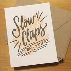 Slow Claps Congratulations Greeting Card