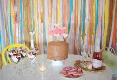 Pink and Gold Valentine's Day party ideas on www.prettymyparty.com.