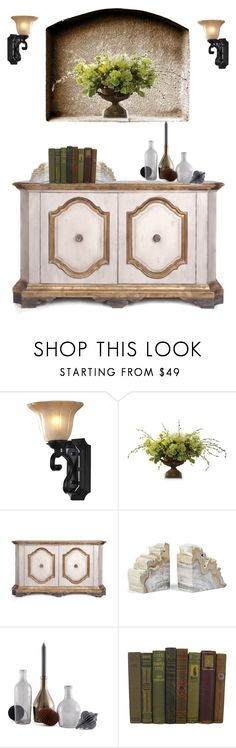 """wall sconce - Niche"" by shistyle ❤ liked on Polyvore featuring interior, interiors, interior design, home, home decor, interior decorating, Frontgate, Philmore, Incipit and wallsconce"