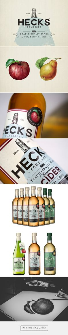 Hecks Farmhouse Cider - Packaging of the World - Creative Package Design Gallery - http://www.packagingoftheworld.com/2017/03/hecks-farmhouse-cider.html