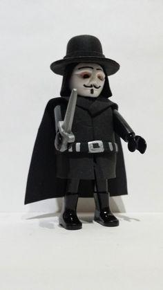 Playmolook: FIGURA CUSTOM V de Vendetta - Cine - PLAYMOBIL
