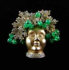 NETTIE ROSENSTEIN Dionysus Brooch by KatsCache on Etsy, $799.95