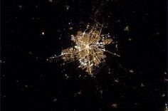 A night-time photo of Winnipeg, taken by astronaut Chris Hadfield, from the International Space Station.  Winnipeg Free Press.