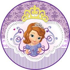 Sweet Sofia the First: Free Printable Invitations and Candy Bar Labels. Princess Sofia Cake, Princess Sofia Birthday, Princess Sofia The First, Sofia The First Birthday Party, Princess Party, Disney Princess, Ballerina Birthday, Sofia The First Characters, Minnie Mouse Balloons